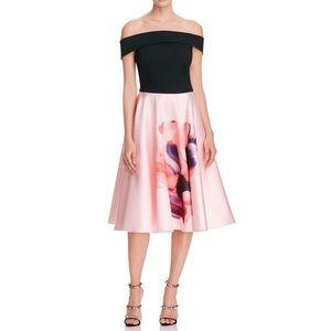 Ted Baker Cosmic Bloom Bardot Dress sz 10